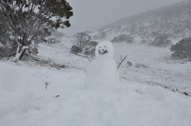 A snowman at Perisher over the weekend.