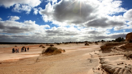 Big skies and bigger stories: Mungo National Park.
