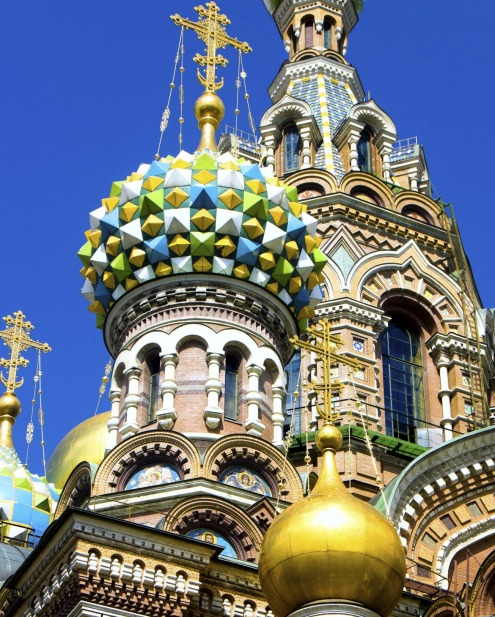 Church of the Savior on Spilled Blood in St. Petersburg, Russia.