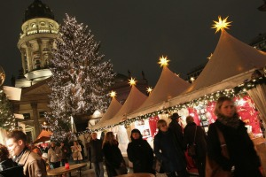 A traditional Christmas market in Berlin.