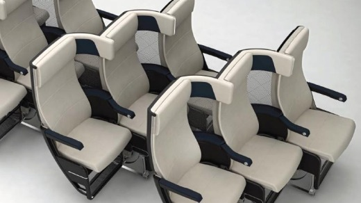 The seat also features a fixed-back shell with a pan seat recline.