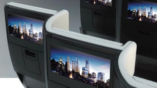 The seat design allows for an in-flight entertainment system to be installed.