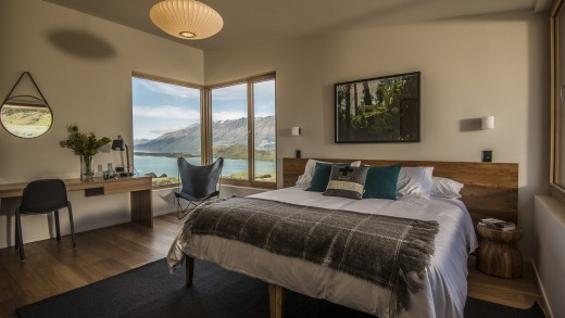 A suite at the Aro Ha Wellness Retreat.