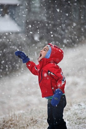 Kids play in the snow at Mt Hotham.