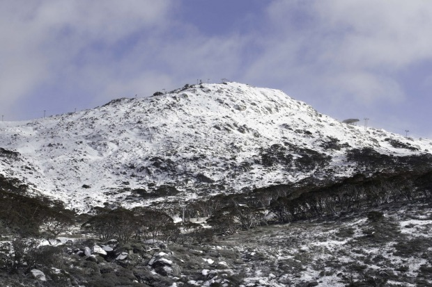 Snow at Perisher on Wednesday.