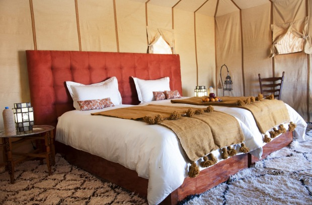9    MERZOUGA LUXURY DESERT CAMP, ERG CHEBI, MOROCCO. Set among the dunes of Erg Chebi, in the Sahara Desert, this ...