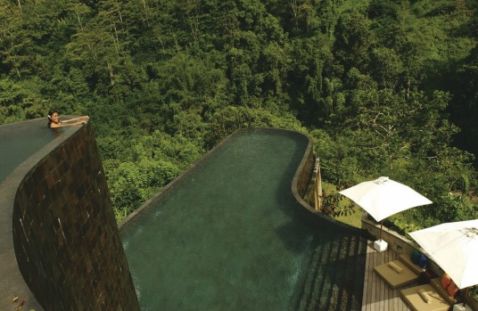 Ubud's Hanging Gardens pool setting is spectacular.