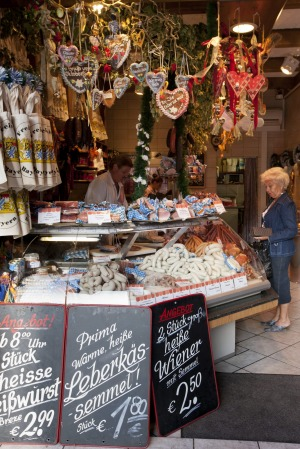 VIKTUALIENMARKT, MUNICH: Follow the scent of smoked meats and grilling sausages to the Viktualienmarkt, the city's ...