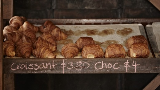 Some of the produce of the artisan wholesale bakery at The Farm.