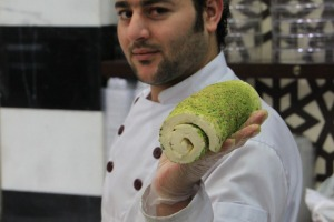 Even watching the chef prepare Syrian ice-cream, or booza, at Damascus Sweets is an experience.