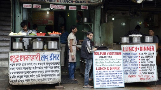 Dhabas are popular in India as roadside food stalls and snack bars.