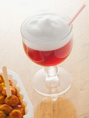 For a taste of Berlin you can't beat red Berliner weisse with curried sausages.