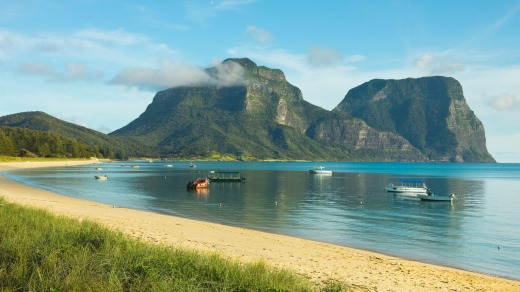 Mount Lidgbird and Mount Gower, on  Lord Howe Island.