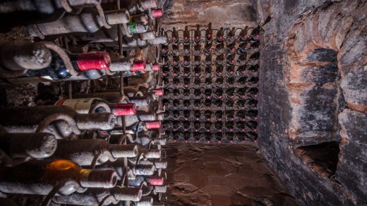 The wine celllar of what is believed to be the world's oldest restaurant, Botin in Madrid.