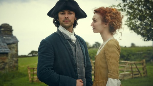 Ross Poldark and his wife Demelza, the two stars of <i>Poldark</i>.