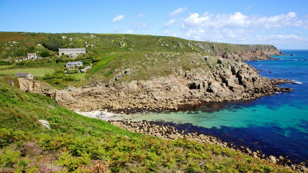 Porthgwarra Cove, one of the spectacular coves around the Cornish coast.