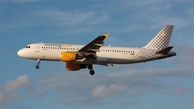 A Vueling Airlines Airbus A320.