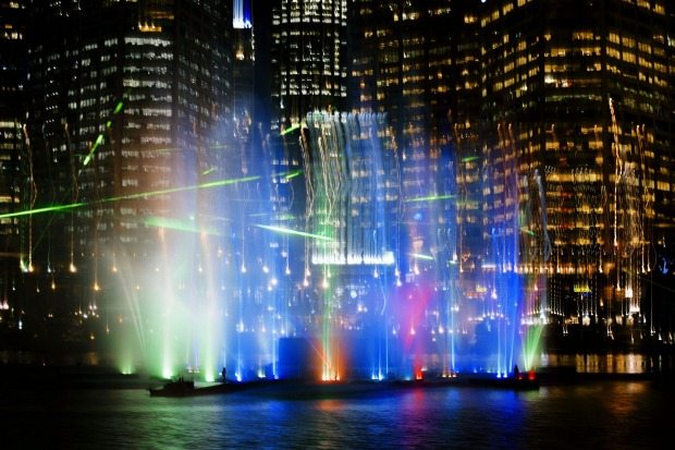 The laser fountain making Darling Harbour look like Vegas tonight!