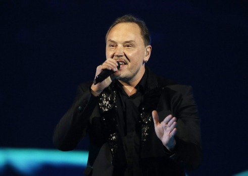 Knez (Nenad Knezevic) from Montenegro performs during the dress rehearsal for the Eurovision Song Contest final on May ...