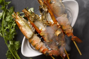 A top Starfish Bloo dish is grilled Kalimantan giant river prawn.