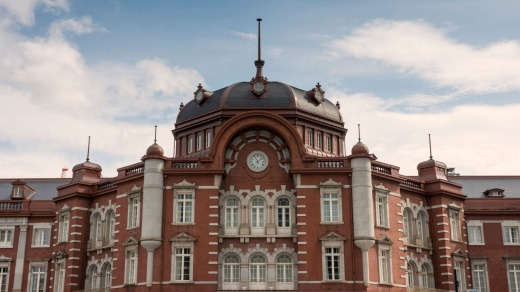 The Tokyo Station Building, including its hotel, has been restored after being damaged in  World War II.