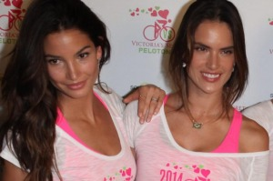 Victoria's Secret models at a SoulCycle benefit.