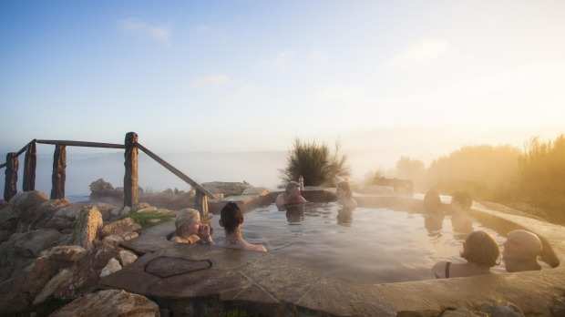 Peninsula Hot Springs has a hilltop spa with 360-degree views of the Mornington Peninsula.