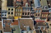 Arial view of the colorful Utrecht city in the Netherlands.