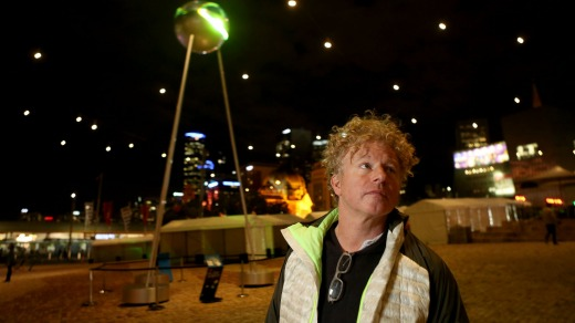 Artist and photographer Chris Levine unveils his A Molecule of Light installation for the Light in Winter festival.