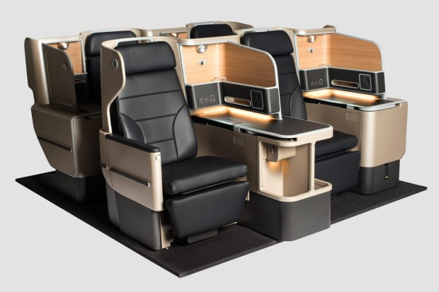 Qantas A330 business class seats. After emerging from a financial wind-shear of epic proportions, the airline launched a ...