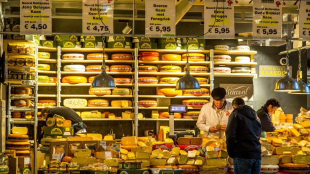 The new Market Hall in Rotterdam, a dutch cheese shop.