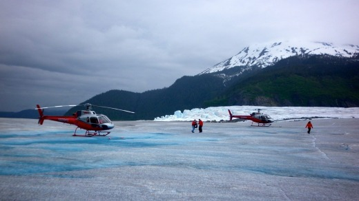 The exhilarating half-hour helicopter flight from Juneau up and over the Mendenhall glacier gives you an unforgettable ...