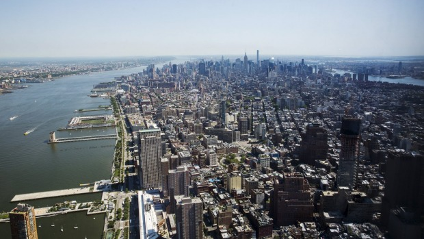 Manhattan stretches out in a view from the newly opened One World Observatory in the Manhattan borough of New York May ...