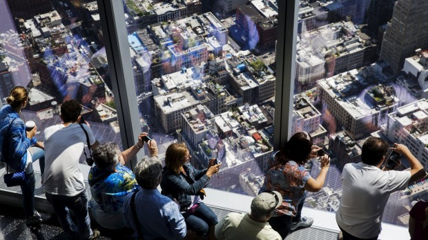 Visitors to the newly opened One World Observatory in New York May 29, 2015. Taking up parts of the 100th, 101st, and ...