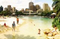 Brisbane's man-made  beach at South Bank.