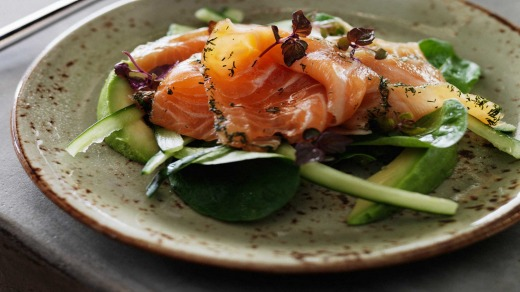 Tuck into some salmon at Pony Dining.
