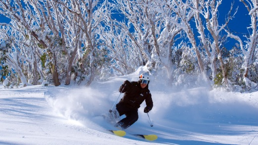 Steve Lee leads his signature back-country tour at Falls Creek.