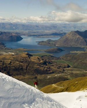 The scenery in New Zealand ski-fields is nearly as good as the skiing.
