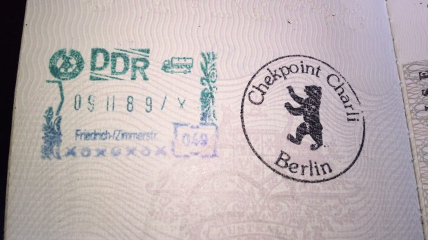 The Stamp You Procure When Visiting Checkpoint Charlie In Berlin Note Date Stays
