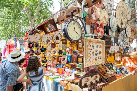 EL RASTRO, MADRID, SPAIN: Europe's biggest flea market, El Rastro is one enormous garage sale that takes over the ...