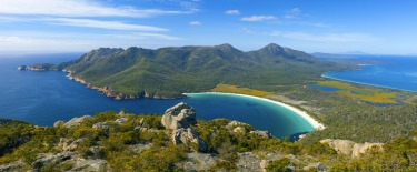 Wineglass Bay from Mt Amos.
