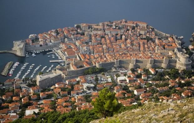 Dubrovnik old town from a hill, one of Europe's fastest-growing summer travel destinations.