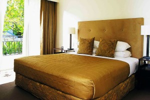 Get the golden treatment in one of the Lyall's  40 bedroom suites.