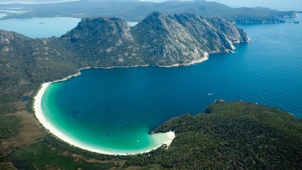 Picture perfect. The view of Wineglass Bay is worth the climb.