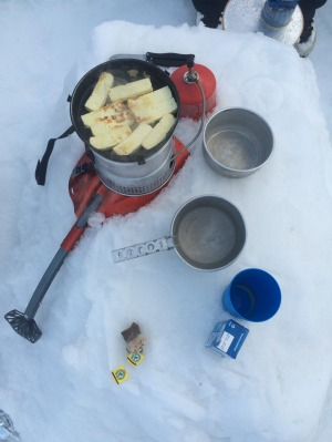 Skiing is a hungry hobby.