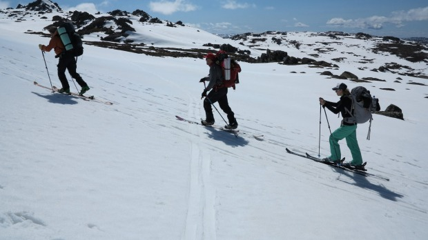 The extremes of backcountry skiing in Kosciuszko's high