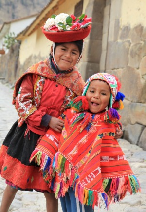 Children in Ollantaytambo, Peru.