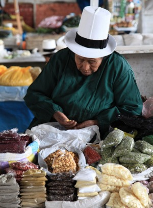 Markets are one of the best places to see the wide variety of hats.