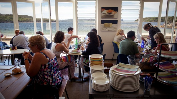 Sydney's Bathers' Pavilion Café, located in an elegant art deco building on Balmoral Beach.