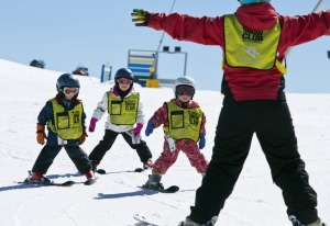 Group lessons help children make friends as well as master skiing skills.